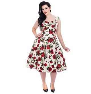 ditsy_rose_floral_swing_dress_model_xxl